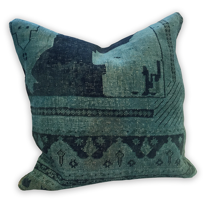 Vintage pillow Peacock Navy